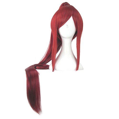 Anime Fairy Tail Erza Scarlet Cosplay Red Wigs Long