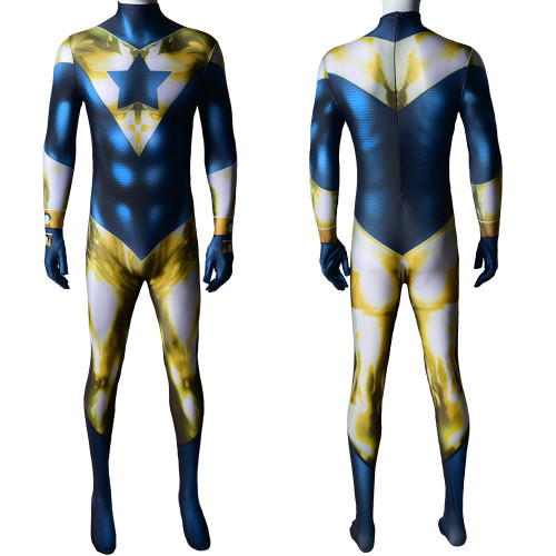 [Kids/Adults] Booster Gold Zentai Costume Unisex Spandex Jumpsuit Halloween Party Outfit