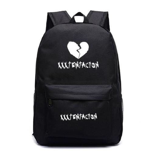 XXXtentacion Broken Heart Print Backpack Students Backpack Shcool Backpack For Girls Boys