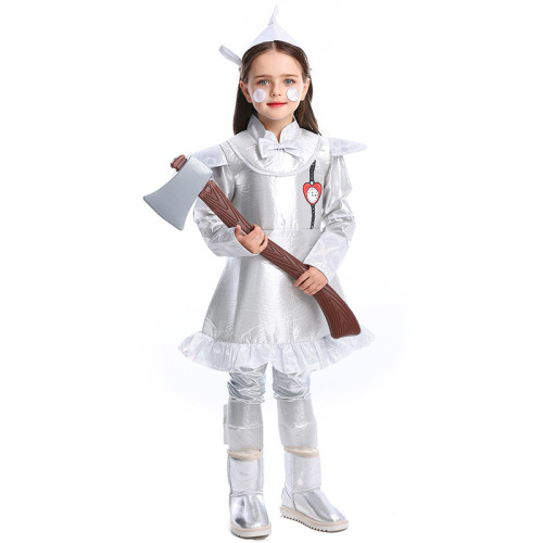 The Wizard of Oz The Tin Man Kids Costume Tin Woodsman Halloween Party Costume For Children