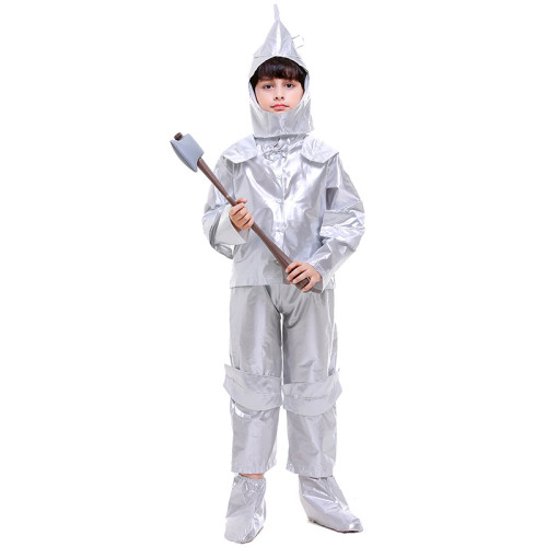 The Wizard of Oz The Tin Man Kids Costume Tin Woodsman Costume Children Girls Boys Cosplay Outfit