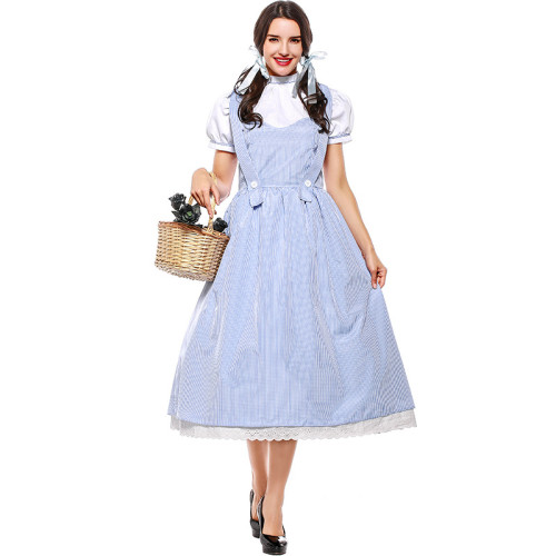 The Wizard of Oz Dorothy Gale Cosplay Costume Dress Halloween Cosplay Outfit