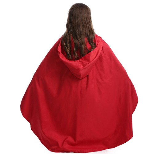 Little Red Riding Hood Kids Costume Halloween Girls Cosplay Costume With Cloak
