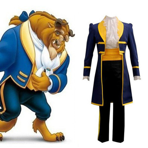 [Kids/Adults]Beauty and the Beast The Prince Costume With Mask Halloween Cosplay Suit Halloween Costume