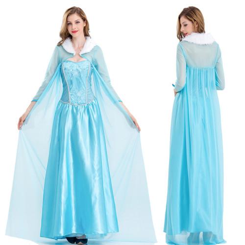 Alice In Wonderland Alice Princess Dresss With Cloak Women Halloween Cosplay Dress