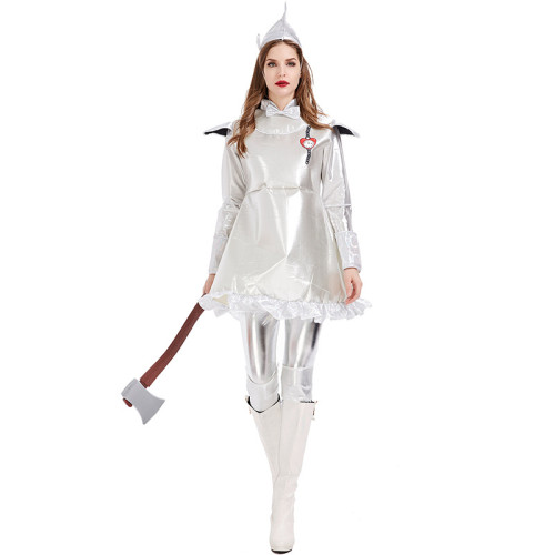 The Wizard of Oz The Tin Man Cosplay Costume Women Cosplay Dress Halloween Party Perfromance Costume