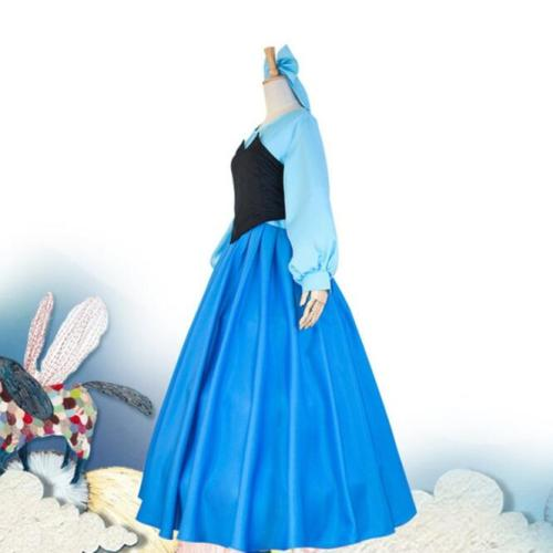 The Little Mermaid Ariel Cosplay Dress Halloween Blue Women Girls Cosplay Dress Outfit