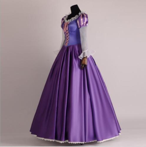 Tangled Rapunzel Cosplay Costume Party Dress Princess Dress Deluxe Version Costume Dress For Women Girls