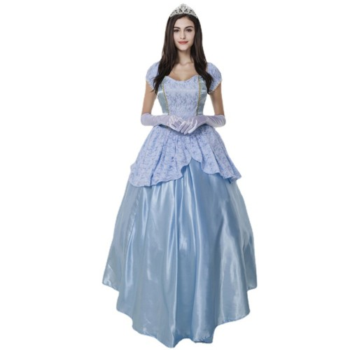 Princess Sissi Cosplay Costume Blue Party Dress Halloween Cosplay Dress Outfit