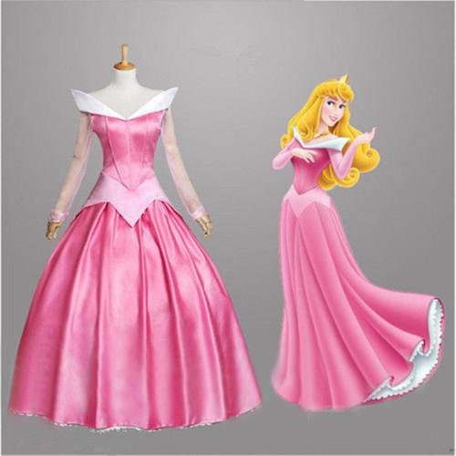 Princess Aurora Cosplay Costume Dress Halloween Cosplay Outfit Women Girls Halloween Outfit