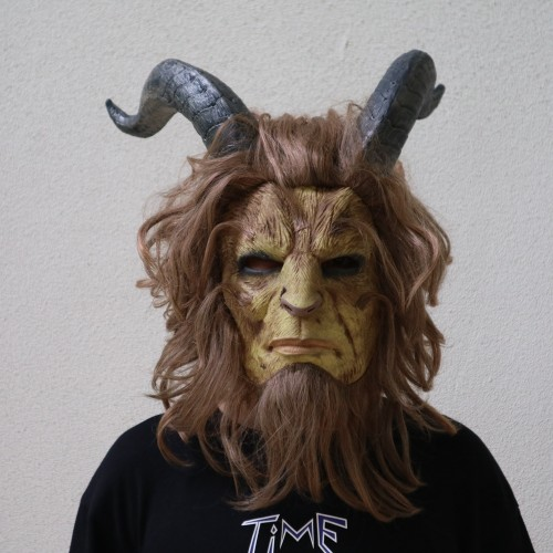 Beauty and the Beast The Prince Mask With Horns Halloween Cosplay Mask