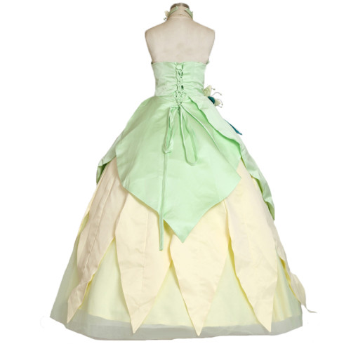 Princess Tiana Dress Cosplay Costume Carnival costume Halloween Party Women Cosplay Outfit