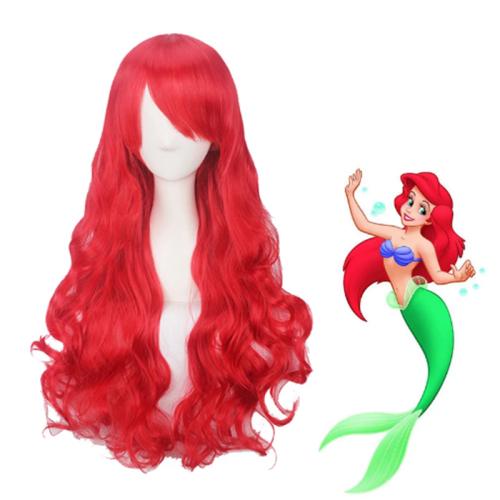 The Little Mermaid Ariel Cosplay Wigs Red Long Wigs