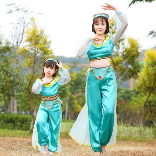 [Kids/Adults] Princess Jasmine Halloween Costume Dress Mom and Me Matching Halloween Outfit