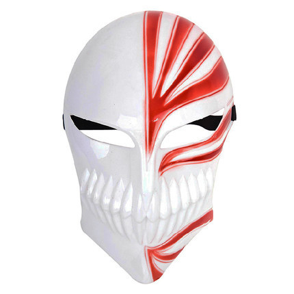 Anime Bleach Ichigo Kurosaki Cosplay Mask Red/Black Halloween Cosplay Accessories