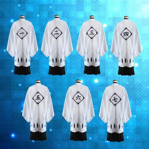Anime Bleach Gotei 13 Squad Cosplay Cloak 1-13 Division Costume Cloak