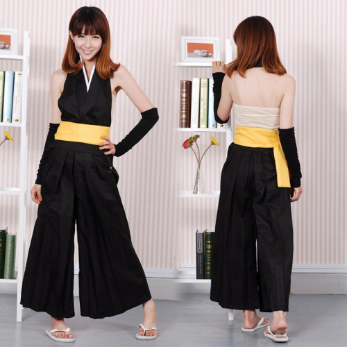 Anime Bleach 2nd Division Captain Soi Fon Cosplay Costume With Wigs Soifon Full Set Battleframe Backless Costume With Wigs