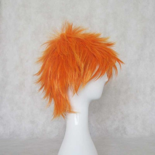 Anime Bleach Kurosaki Ichigo Cosplay Wigs Short Orange Wigs