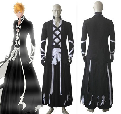 Anime Bleach Cosplay Kurosaki Ichigo Fullbring New Bankai Look Cosplay Costume full set