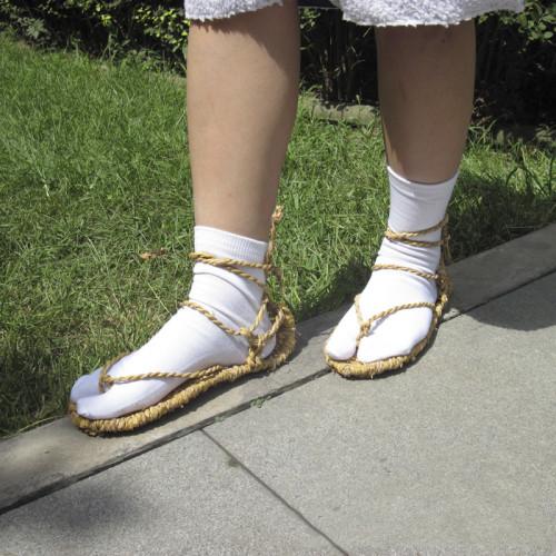 Anime Bleach Kurosaki Ichigo Cosplay Shoes Straw sandals All Character Straw sandals With Socks
