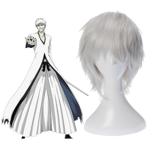 Anime Bleach Ichigo Kurosaki Cosplay Wigs Short Orange/White Wigs