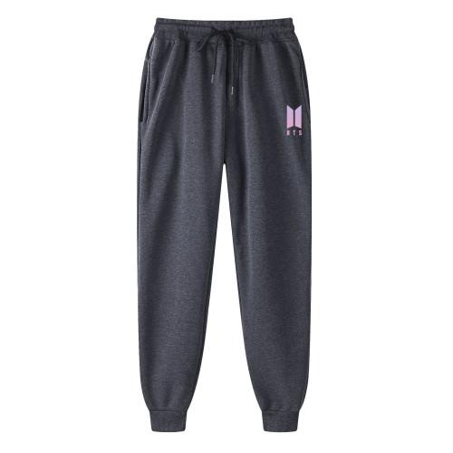 2021 New BTS Fashion Fleece Inside Sweatpants Unisex Pants