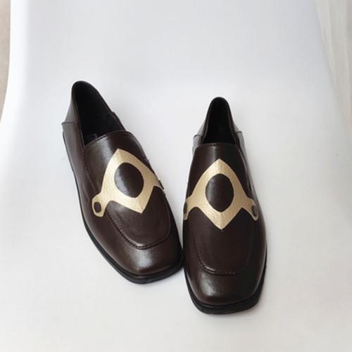 Genshin Impact Hu Tao Cosplay Shoes PU Leather Halloween Cosplay Shoes