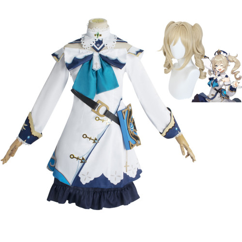 Genshin Impact Barbara Cosplay Costume With Wigs Halloween Carnival Party Cosplay Outfit