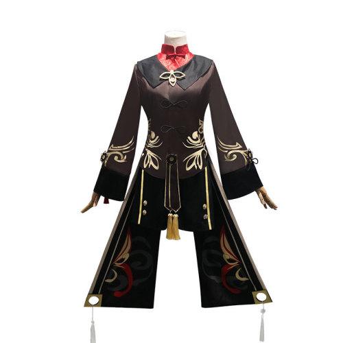 Genshin Impact Hu Tao Cosplay Costume Full Set Halloween Girls Women Costume Set With Hat Socks