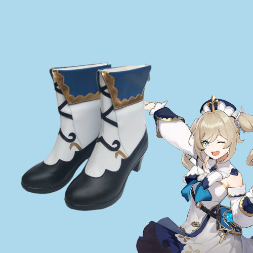 Genshin Impact Barbara Cosplay Accessories Cosplay Boots Shoes