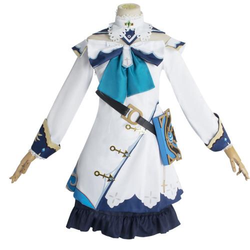 Genshin Impact Barbara Cosplay Costume Dress Halloween Carnival Cosplay Costume Outfit