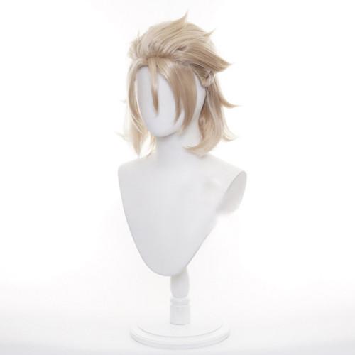 Genshin Impact Albedo Cosplay Wigs Halloween Carnival Cosplay Short Wigs