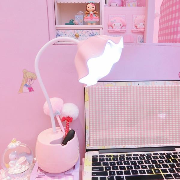 Lovely Flower LED Night Light Pen Holder Home Kids Bedroom Indoor Lighting Decor Lamp