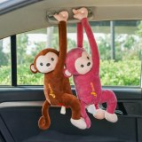 4 Colors Creative Pipi Monkey Tissue Box Cartoon Paper Napkin Tissue Box Car Armrest Box Cute Interior Products Car Accessoriess