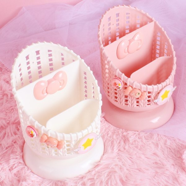 Cute Creative Pink Shelf Storage Pen holder Cosmetic Rack Storage box Suppliers Dolls Collection