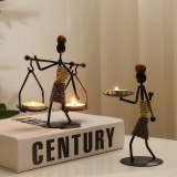 New Products Retro American Personality Iron Man Candlestick Decoration Creative Leisure Restaurant Atmosphere Decoration Bar
