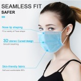 100pcs Disposable Face Masks, 3-Ply Face Masks Protective for Smoke, Dust, Pollen, etc