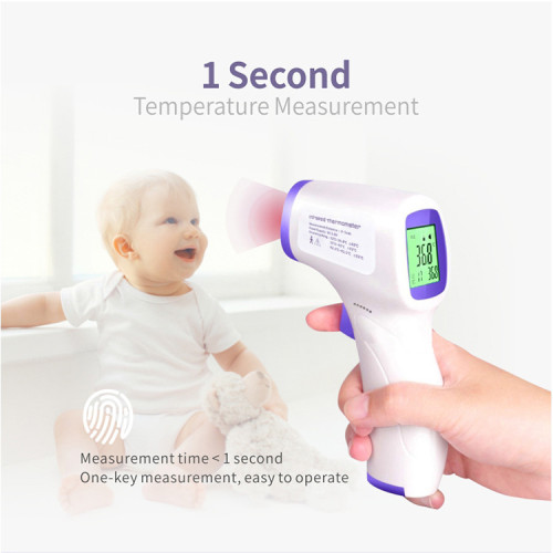 Thermometer Gun Digital Infrared IR LCD Thermometer Forehead And Ear Non-Contact Fever Temperature For Body & Surface