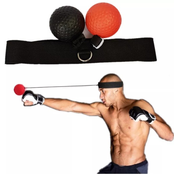 Boxing Reflex Ball Set,Training Balls On String, Punching Fight React Head Ball with Headband, Speed Hand Eye Reaction and Coordination Boxing Equipment For Kids And Adults-2pcs
