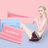 Resistance Band Set, 2Pack Latex Elastic Bands for Upper & Lower Body & Core Exercise, Physical Therapy, Lower Pilates, at-Home Workouts, and Rehab, Pink & Blue