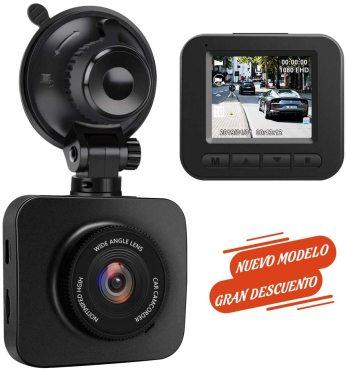 AWESAFE Cámara de Coche Dash CAM 1080P Full HD 170 Ángulo con WDR G-Sensor, Detección de Movimiento, Grabación en Bucle, Visión Nocturna, Monitor de Aparcamiento