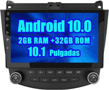 AWESAFE Android 10.0 [2GB+32GB] Radio Coche para Honda Accord VII con 10.1 Pulgadas Pantalla Táctil 2 DIN , Autoradio con Bluetooth/GPS/FM/RDS/USB/RCA, Apoyo Mandos Volante, Mirrorlink y Aparcamiento