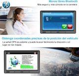 AWESAFE Navegador GPS para Camiones y Coches de 9 Pulgadas, con Visera y Bluetooth, Actualizaciones de Mapas de Europa para Toda la Vida