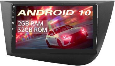 AWESAFE [Android 10.0 2GB+32GB] Radio Coche para Seat Leon MK2 2005-2012, Autoradio de 9 Pulgadas con Pantalla Táctil,con WiFi/GPS/Bluetooth/DSP/RDS/USB/FM AM/RCA,Apoyo Mandos del Volante,Aparcamiento