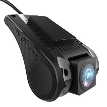 AWESAFE Dash CAM WiFi Cámara de Coche con Full 1080P HD 140 °, Cámara de Tablero de Cabina Delantera e Interior para automóviles  Sensor G  Grabación en Bucle  Visión Nocturna  Detección de Movimiento