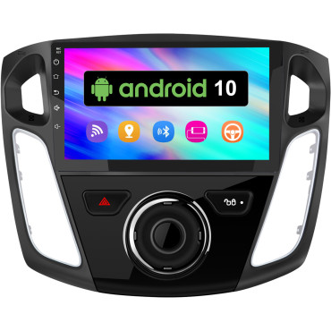 AWESAFE Android 10.0 [2GB+32GB] Radio Coche para Ford Focus Mk3 2012-2017 con 9 Pulgadas Pantalla Táctil, Autoradio con Bluetooth/GPS/WiFi/FM/USB/RCA, Apoyo Mandos Volante, Aparcamiento, MirrorLink