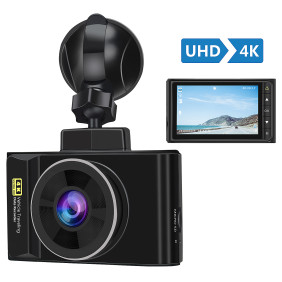 AWESAFE 4K Dash Cam with GPS UHD 2160P 3 Inch LCD Screen 170 Degrees Wide Angle Dash Camera with G Sensor,Motion Detection,Night Vision