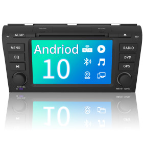 AWESAFE Car Radio for Mazda 3 2004-2009 Andriod 10.0 Car Stereo Head Unit 7 inch Touch Screen with WiFi Bluetooth GPS Support Apple Carplay Andriod Auto