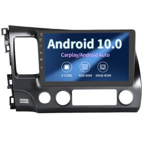 AWESAFE Car Stereo Radio Andriod 10.0 Built-in Carplay DSP 4G Ram 64G ROM Head Unit for Honda Civic 2006-2011
