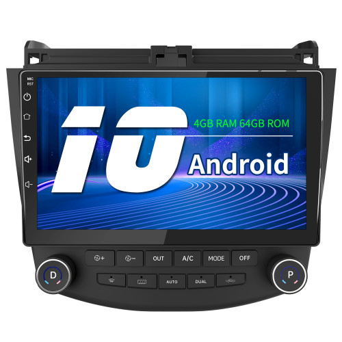 AWESAFE Car Radio Stereo 4G Andriod 10 with Built in Carplay for Honda Accord 7th 2003-2007